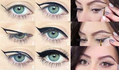 Maquillaje de noche paso a paso cat eye