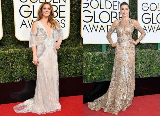 vestidos de los globos de oro mangas