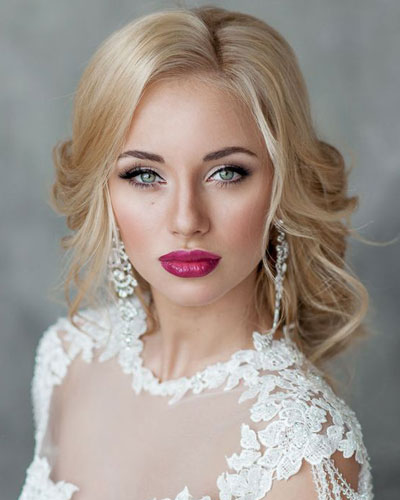 Maquillaje para novia más marcado